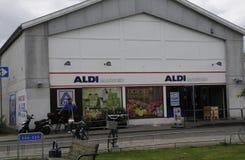 阿尔迪杂货和食物STORE_GERMAN链子市场 库存图片