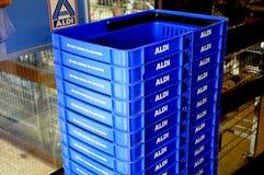 阿尔迪杂货和食物STORE_GERMAN链子市场 免版税图库摄影