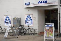 阿尔迪标记了 库存图片