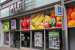 阿尔迪超级市场 库存图片