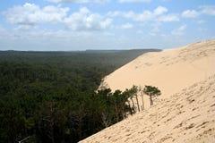 阿尔雄du dune法国pyla 库存照片