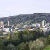 阿尔高州报告瑞士州Spreitenbach新市镇 免版税库存图片