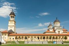 阿尔巴尤利亚加冕大教堂  免版税库存照片