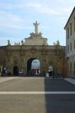 阿尔巴尤利亚堡垒,罗马尼亚第三个门  免版税库存照片