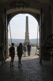 阿尔巴尤利亚堡垒,罗马尼亚第三个门  库存照片