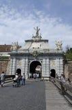 阿尔巴尤利亚堡垒,罗马尼亚第三个门  库存图片