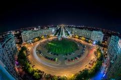 阿尔巴尤利亚广场,布加勒斯特视图 免版税库存图片