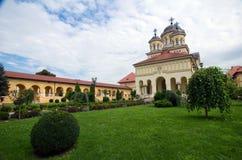 阿尔巴尤利亚-加冕大教堂 免版税库存图片