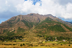 阿尔巴尼亚山村 免版税库存照片