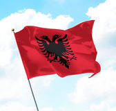 阿尔巴尼亚标志 免版税库存照片