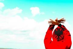 阿尔巴尼亚老鹰标志 免版税图库摄影