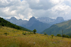 阿尔巴尼亚阿尔卑斯 免版税库存图片