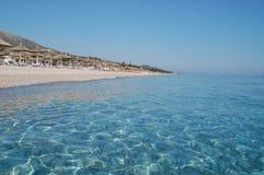 阿尔巴尼亚, Drymades海滩 免版税库存图片