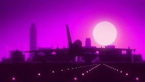 阿尔巴尼纽约美国美国地平线日出着陆 影视素材