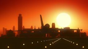 阿尔巴尼纽约美国美国地平线日出着陆 股票视频