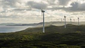 阿尔巴尼` s windfarm 免版税图库摄影