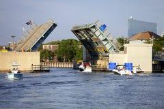 阿尔巴尼Ave吊桥在大西洋城,新泽西 库存照片