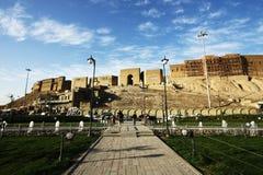 阿尔贝拉城堡,阿尔贝拉市,伊拉克的库尔德斯坦 免版税库存照片