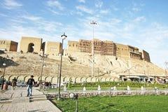 阿尔贝拉城堡,阿尔贝拉市,伊拉克的库尔德斯坦 免版税图库摄影