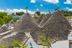 阿尔贝罗贝洛,普利亚地区,南意大利美丽的镇有trulli房子的 库存照片