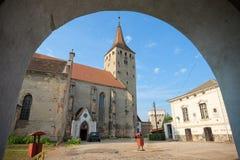 阿尤德城堡,罗马尼亚 免版税库存图片