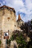 阿尤德堡垒墙壁在特兰西瓦尼亚罗马尼亚 免版税库存图片