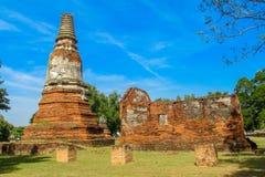 阿尤特拉利夫雷斯历史公园古老Wat废墟 库存照片