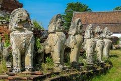 阿尤特拉利夫雷斯历史公园古老Wat废墟 免版税库存图片