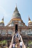 阿尤特拉利夫雷斯,泰国- 2015年11月01日:一个古城Ayuttha 库存照片