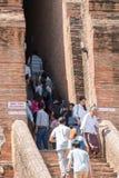 阿尤特拉利夫雷斯,泰国- 2015年11月01日:一个古城Ayuttha 免版税图库摄影