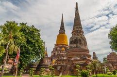阿尤特拉利夫雷斯, THAILAND-JUNE 27日2013年:Watyaichaimongkol 库存例证