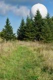阿巴拉契亚足迹和FAA航空交通管制雷达 库存图片
