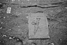 阿巴拉契亚足迹铜匾 库存照片