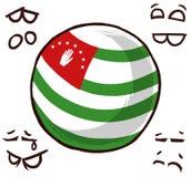 阿布哈兹国家球 向量例证