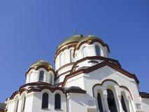 阿布哈兹新阿丰 奋锐党的西门修道院 免版税库存图片