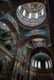 阿布哈兹的圣洁大都会内部  免版税库存图片