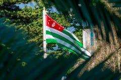 阿布哈兹的旗子 库存图片