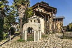 阿布哈兹 Lykhny 保佑的维尔京的做法的教会 库存照片