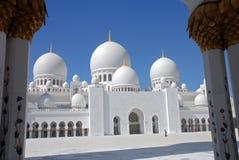 阿布扎比东部中间清真寺回教族长阿拉伯联合酋长国zayed 库存图片