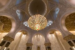 阿布扎比全部清真寺回教族长阿拉伯联合酋长国zayed 免版税库存照片