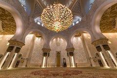 阿布扎比全部清真寺回教族长阿拉伯联合酋长国zayed 免版税图库摄影