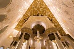 阿布扎比全部清真寺回教族长阿拉伯联合酋长国zayed 免版税库存图片