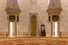 阿布扎比全部清真寺回教族长阿拉伯联合酋长国zayed 库存图片