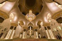 阿布扎比全部清真寺回教族长阿拉伯联合酋长国zayed 图库摄影