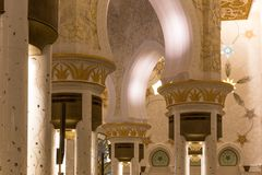 阿布扎比全部清真寺回教族长阿拉伯联合酋长国zayed 库存照片