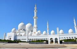 阿布扎比全部清真寺回教族长zayed 库存图片