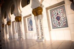 阿布扎比全部清真寺回教族长zayed 免版税库存照片