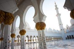 阿布扎比全部清真寺回教族长zayed 库存照片
