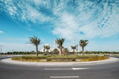 阿布扎比回教族长zayed清真寺 免版税库存照片