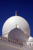 阿布扎比圆顶主要清真寺回教族长zayed 图库摄影